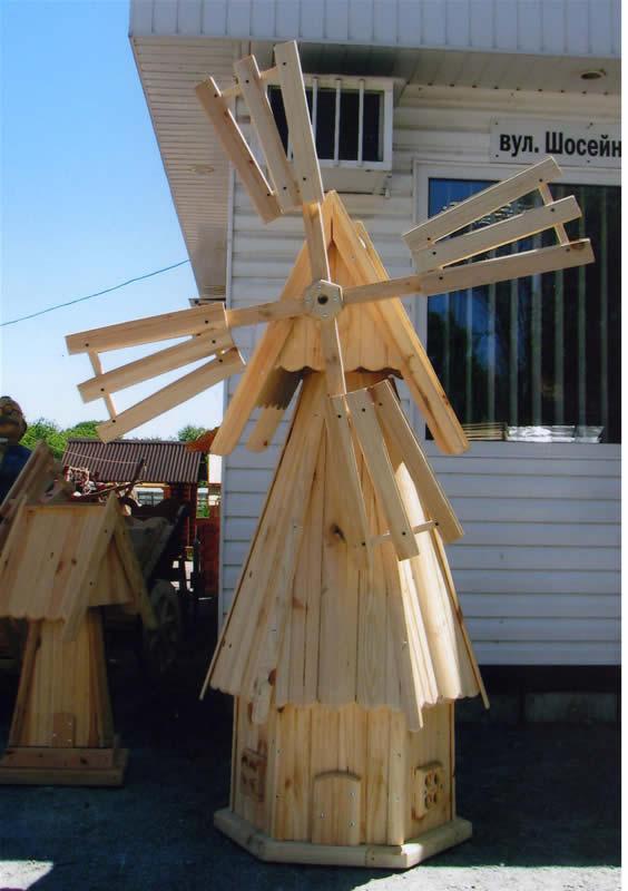 Поделки из дерева ветряная мельница 7
